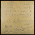 Movie/TV Memorabilia, Sid Grauman extremely limited #1 of an intended run of up to 4 hand and footprint impressions from the Chinese Theatre. ...