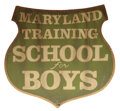 """Movie/TV Memorabilia, """"Maryland Training School for Boys"""" sign from Cry-Baby...."""