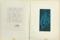 Movie/TV Memorabilia, Jim Morrison important handwritten notebook containing over 100 pages of poems, philosophy and general musings. ...
