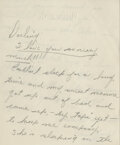 Movie/TV Memorabilia, Judy Garland autograph letter signed to Vincente Minnelli with extraordinary lipstick kissed envelope....