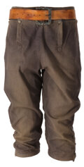 """Movie/TV Memorabilia, Johnny Depp """"Jack Sparrow"""" hero screen worn breeches and belt from Pirates of the Caribbean: Curse of the Black Pearl. ..."""