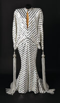 """Movie/TV Memorabilia, Diana Ross stage-worn """"disco-ball"""" silver sequined gown by Ret Turner...."""