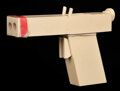 Movie/TV Memorabilia, In the Line of Fire original production-made assassin's resin gun with production archive. ...