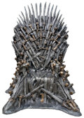 """Movie/TV Memorabilia, Game of Thrones HBO studio-commissioned life-size replica """"Iron Throne"""" presented by author George R.R. Martin at the Game of ..."""