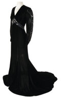 Movie/TV Memorabilia, Group of (8) Women's black velvet dresses and gowns from unidentified productions dating from the 1930s to the 1950s. ...