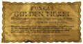 Movie/TV Memorabilia, Original Golden Ticket from Willy Wonka and the Chocolate Factory. ...