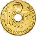 French Equatorial Africa, French Equatorial Africa: French Colonial 5 Centimes 1943,...