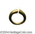 Ancients:Greek, Ancients: Celtic or Gaelic. Ca. 1st millennium B.C. AV ring money(16 mm, 4.08 g). Ring of plain design with blunted ends. VanArsdell...