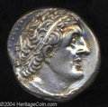 Ancients:Greek, Ancients: Ptolemaic Kingdom. Ptolemy II. 285-246 B.C. ARtetradrachm (25 mm, 12.66 g). Alexandria. Diademed head of PtolemyI right, w...
