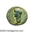 Ancients:Roman, Ancients: Gaius Caligula. A.D. 37-41. AE as (23 mm, 11.00 g). Rome,A.D. 37-38. Bare head left / Vesta seated left, holding pateraand...