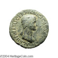 Ancients:Roman, Ancients: Agrippina I, wife of Germanicus. Died A.D. 33. AEsestertius (36 mm, 27.51 g). Rome, under Claudius, ca. A.D. 50-54.Draped ...