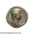 Ancients:Roman, Ancients: Hadrian. A.D. 117-138. AE sestertius (32 mm, 25.33 g).Rome, A.D. 134-138. Bare-headed and draped bust right /RESTITVTO[RI ...