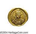 Ancients:Roman, Ancients: Theodosius II. A.D. 408-450. AV solidus (22 mm, 4.24 g).Constantinople, A.D. 420-422. Diademed, helmeted and cuirassedbust...