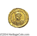 Ancients:Roman, Ancients: Theodosius II. A.D. 408-450. AV solidus (21 mm, 4.40 g).Constantinople, A.D. 425-429. Diademed, helmeted and cuirassedbust...