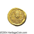 Ancients:Roman, Ancients: Leo I. A.D. 457-474. AV solidus (21 mm, 4.37 g).Constantinople, A.D. 462-473. Diademed, helmeted and cuirassed bustfacing ...