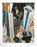 """Movie/TV Memorabilia, Norman Rockwell signed lithograph of JFK, """"A Time for Greatness""""...."""