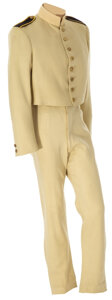 """Movie/TV Memorabilia, Errol Flynn """"Major Geoffrey Vickers"""" beige military outfit from The Charge of the Light Brigade...."""