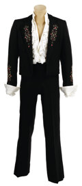 Movie/TV Memorabilia, Tom Jones Las Vegas stage outfit and boots from the mid to late 1970s....