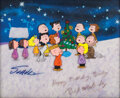 Animation Art, Signed original production cels from A Charlie Brown Christmas....