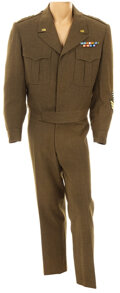 """Movie/TV Memorabilia, George C. Scott """"General George S. Patton, Jr."""" green military jacket and pants from Patton. ..."""