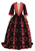 Movie/TV Memorabilia, Burgundy velvet period dress designed by Adrian for background in Camille and used in several other MGM films....