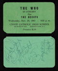 Movie/TV Memorabilia, The Who concert ticket signed by all four original members. ...