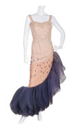 """Movie/TV Memorabilia, Marilyn Monroe """"Vicky"""" crème and blue ombre satin and tulle gown by Travilla from There's No Business Like Show Business...."""