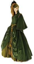 """Movie/TV Memorabilia, """"Scarlett O'Hara"""" exhibition """"Drapery"""" dress and hat from Gone With the Wind. ..."""