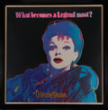 """Movie/TV Memorabilia, Andy Warhol signed limited edition serigraph of Judy Garland for """"Blackglama""""...."""