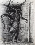 Movie/TV Memorabilia, Mentor Huebner concept artwork for the kennel sequence in The Thing....