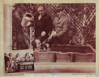 The Three Stooges (2) lobby cards from 2 comedy shorts