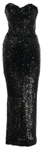 Movie/TV Memorabilia, Group of (3) black sequined gowns from Paramount Pictures. ...