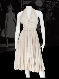 """Bill Travilla's personal touring creation of Marilyn Monroe's iconic """"Subway"""" dress from The Seven Year Itch..."""