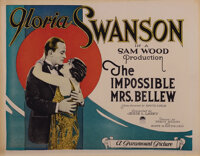 Gloria Swanson (4) lobby cards from The Impossible Mrs. Bellew