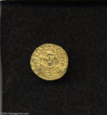 Ancients:Byzantine, Ancients: Phocas. A.D. 602-610. AV solidus (20 mm, 4.30 g).Constantinople, A.D. 607-610. Crowned facing bust, holding cross /Angel s...