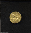 Ancients:Byzantine, Ancients: Heraclius. A.D. 610-641. AV solidus (19 mm, 4.52 g).Constantinople, ca. A.D. 626-629. Facing busts of Heraclius andHeracli...