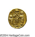 Ancients:Byzantine, Ancients: Heraclius. A.D. 610-641. AV solidus (19 mm, 4.40 g).Constantinople, A.D. 632-635(?). Heraclius between HeracliusConstantin...