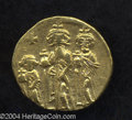 Ancients:Byzantine, Ancients: Heraclius. A.D. 610-641. AV solidus (20 mm, 4.42 g).Constantinople, A.D. 632-635(?). Heraclius between HeracliusConstantin...