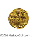 Ancients:Byzantine, Ancients: Heraclius. A.D. 610-641. AV solidus (20 mm, 4.44 g).Constantinople, A.D. 632-635(?). Heraclius between HeracliusConstantin...