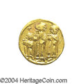 Ancients:Byzantine, Ancients: Heraclius. A.D. 610-641. AV solidus (20 mm, 4.43 g).Constantinople, A.D. 632-635(?). Heraclius between HeracliusConstantin...