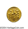 Ancients:Byzantine, Ancients: Heraclius. A.D. 610-641. AV solidus (19 mm, 4.46 g).Constantinople, A.D. 639(?)-641. Heraclius between HeracliusConstantin...