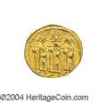 Ancients:Byzantine, Ancients: Heraclius. A.D. 610-641. AV solidus (20 mm, 4.38 g).Constantinople, A.D. 639(?)-641. Heraclius between HeracliusConstantin...