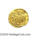 Ancients:Byzantine, Ancients: Heraclius. A.D. 610-641. AV solidus (20 mm, 4.44 g).Constantinople, A.D. 639(?)-641. Heraclius between HeracliusConstantin...