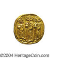 Ancients:Byzantine, Ancients: Heraclius. A.D. 610-641. AV solidus (18 mm, 4.29 g).Constantinople, A.D. 639(?)-641. Heraclius between HeracliusConstantin...