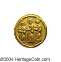 Ancients:Byzantine, Ancients: Heraclius. A.D. 610-641. AV solidus (20 mm, 4.37 g).Constantinople, A.D. 639(?)-641. Heraclius between HeracliusConstantin...