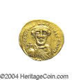 Ancients:Byzantine, Ancients: Constans II. A.D. 641-668. AV solidus (20 mm, 4.44 g).Constantinople, indictional year 5 (A.D. 647). Crowned facing bust,h...