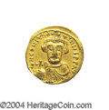 Ancients:Byzantine, Ancients: Constans II. A.D. 641-668. AV solidus (19 mm, 4.24 g).Constantinople, indictional year 6 (A.D. 647/8). Crowned facingbust,...