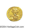 Ancients:Byzantine, Ancients: Constans II. A.D. 641-668. AV solidus (20 mm, 4.39 g).Constantinople, indictional year 7 (A.D. 648/9). Crowned facingbust,...