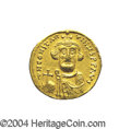 Ancients:Byzantine, Ancients: Constans II. A.D. 641-668. AV solidus (20 mm, 4.36 g).Constantinople, A.D. 650/1. Crowned facing bust, holding globuscruci...
