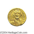 Ancients:Byzantine, Ancients: Constans II. A.D. 641-668. AV solidus (20 mm, 4.45 g).Constantinople, A.D. 650/1. Crowned facing bust, holding globuscruci...